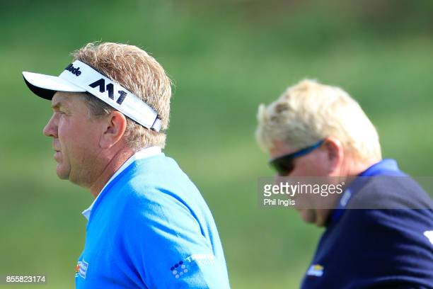 Paul Broadhurst of England in action during the final round of the Paris Legends Championship played at Le Golf National on September 30 2017 in...