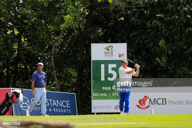 Paul Broadhurst of England in action during the final round of the MCB Tour Championship played over the Legend Course at Constance Belle Mare Plage...