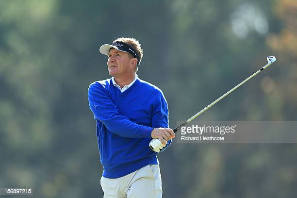Paul Broadhurst of England in action during the first round of the European Tour Qualifying School Finals at PGA Catalunya Resort on November 24 2012...