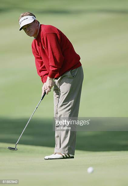 Paul Broadhurst of England in action on the 7th hole during the PGA Open de Madrid at the Club de Campo on October 23 2004 in Madrid Spain
