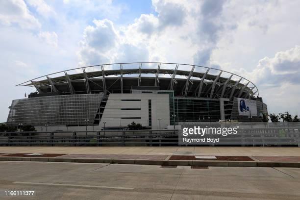 Paul Brown Stadium, home of the Cincinnati Bengals football team in Cincinnati, Ohio on July 29, 2019.