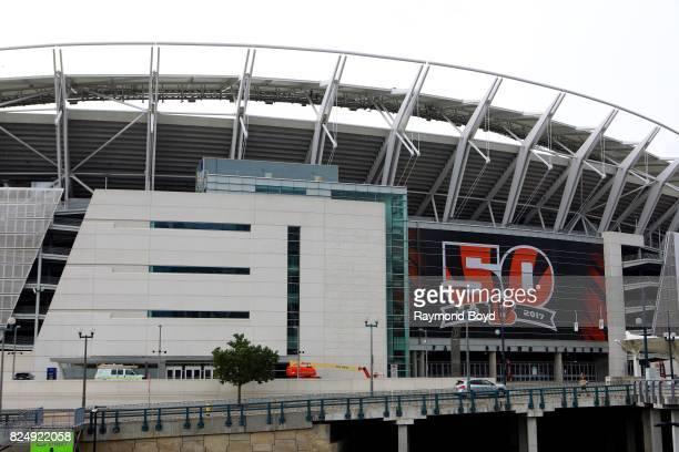 Paul Brown Stadium, home of the Cincinnati Bengals football team in Cincinnati, Ohio on July 20, 2017.