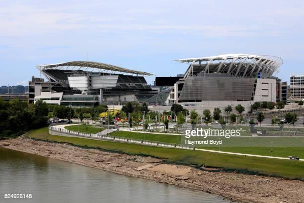 Paul Brown Stadium, home of the Cincinnati Bengals football team in Cincinnati, Ohio on July 21, 2017.