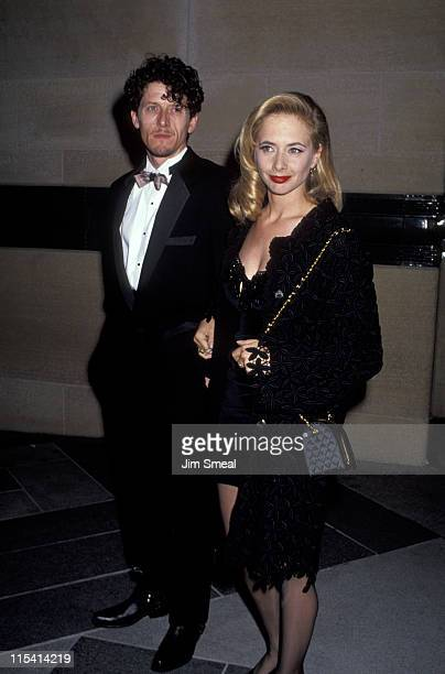 Paul Buchanan and Rosanna Arquette during 'The Player' Los Angeles Premiere at LA County Museum of Art in Los Angeles California United States