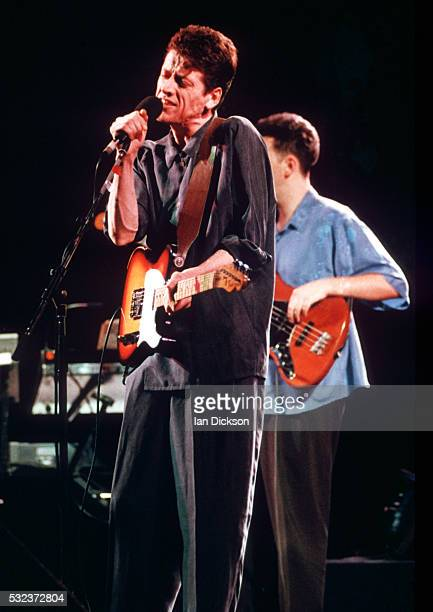 Paul Buchanan of The Blue Nile performing on stage London United Kingdom 1990