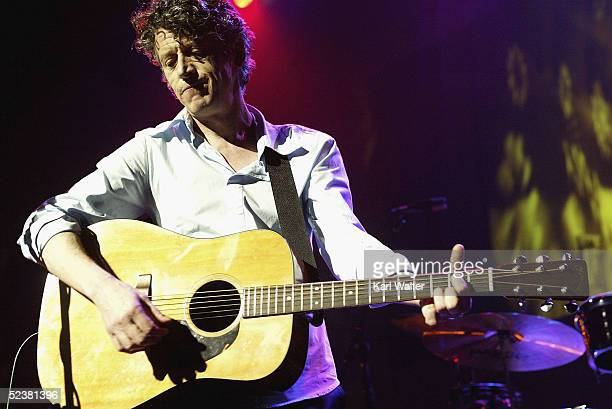 Paul Buchanan performs at 'A Sounds Eclectic Evening' benefit concert for public radio station KCRW on March 12 2005 in Universal City California