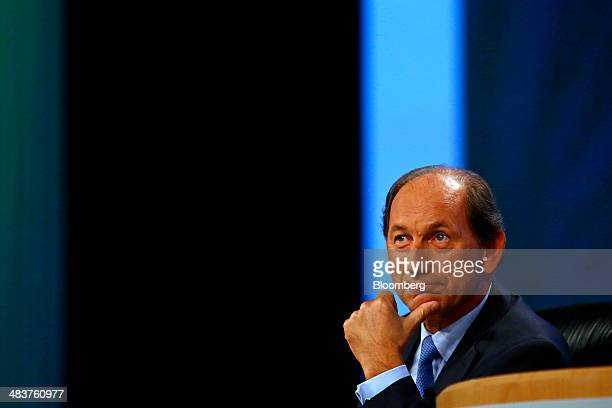 Paul Bulcke chief executive officer of Nestle SA pauses during the company's annual general meeting in Lausanne Switzerland on Thursday April 10 2014...