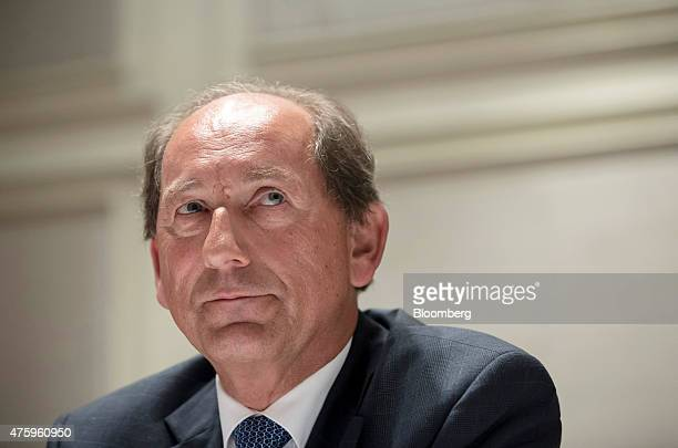 Paul Bulcke chief executive officer of Nestle SA reacts during a news conference in New Delhi India on Friday June 5 2015 Nestle's crisis in India...
