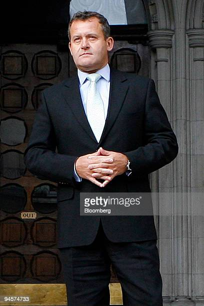 Paul Burrell former butler to Diana Princess of Wales poses outside the High Court in London UK on Monday Jan 14 2008 Diana planned secretly to marry...