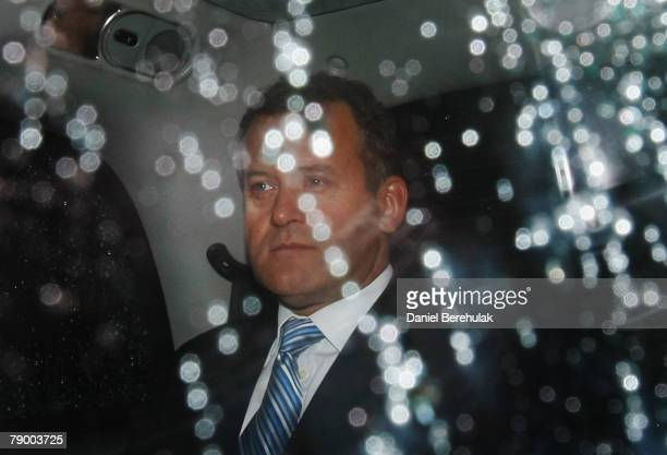 Paul Burrell Princess Diana's buttler departs from the second day of being questioned at the Royal Courts of Justice on January 15 2008 in London...