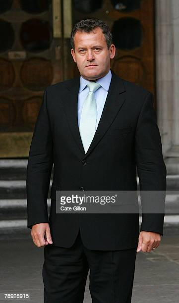 Paul Burrell, the former butler of Princess Diana, stands for the press outside the High Court on January 14, 2007 in London, England. Burrell is due...
