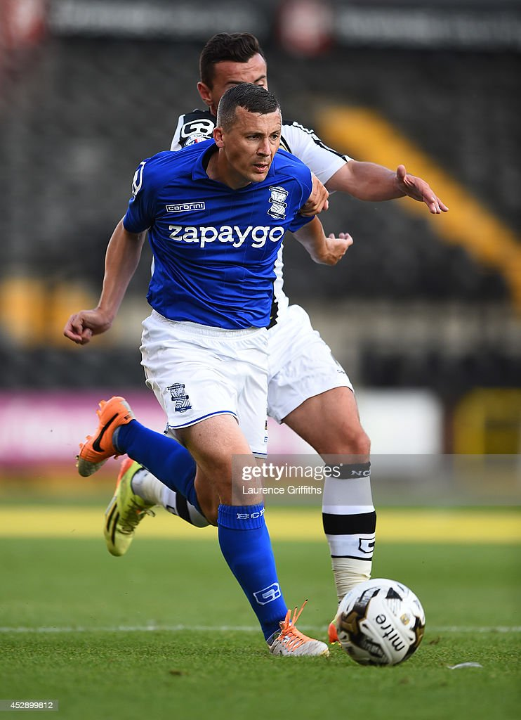 Paul Caddis of Birmingham City in action during the Pre Season Friendly match between Notts County and Birmingham City at Meadow Lane on July 29, 2014 in Nottingham, England.