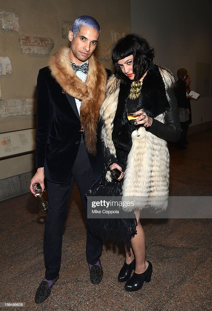 Paul Calderon (L) and Alex Revana attend the 2012 Apollo Circle Benefit at the Metropolitan Museum of Art on November 15, 2012 in New York City.
