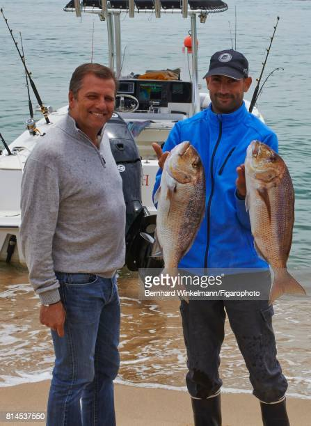 Paul Canarelli the founder of the Murtoli Domain is photographed with fisherman Fabrice for Cuisine Madame Figaro on May 23 2013 in Corsica CREDIT...