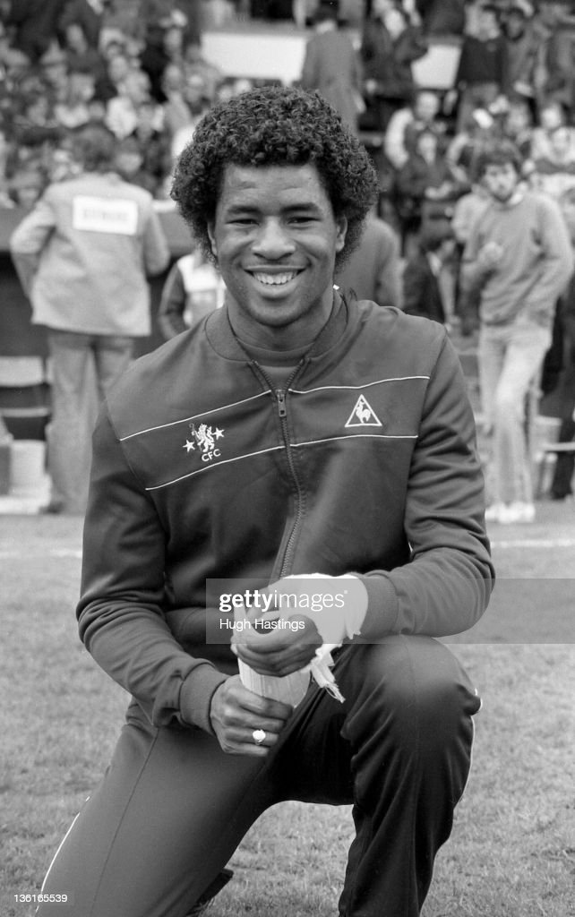 Paul Canoville of Chelsea poses before the Division 2 match between Crystal Palace and Chelsea at Selhurst Park on April 12,1982 in London,England. Chelsea won the match 1-0.