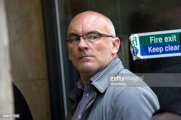 Paul Carlier a former foreignexchange trader at Lloyds Banking Group Plc arrives for his employment tribunal in London UK on Wednesday Sept 16 2015...