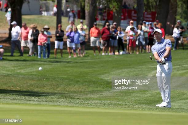 Paul Casey chips onto the green during the first round of the Valspar Championship on March 21 at Westin Innisbrook-Copperhead Course in Palm Harbor,...