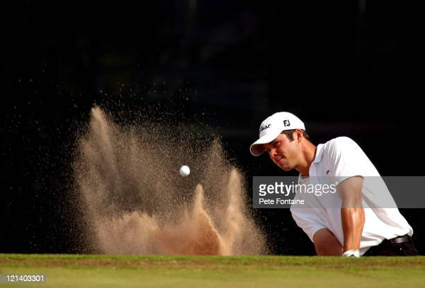 Paul Casey competes during the final round of the Wales Celtic Manor Open June 6 2004