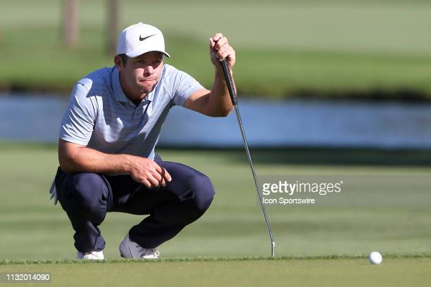 Paul Casey lines up a putt on the 16th green during the second round of the Valspar Championship on March 22 at Westin Innisbrook-Copperhead Course...