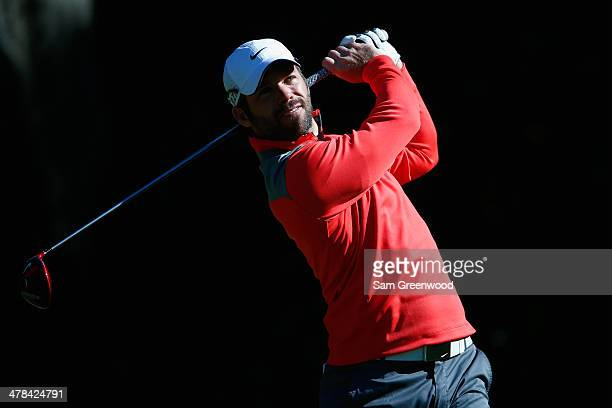 Paul Casey of England hits a tee shot on the 11th hole during the first round of the Valspar Championship at Innisbrook Resort and Golf Club on March...