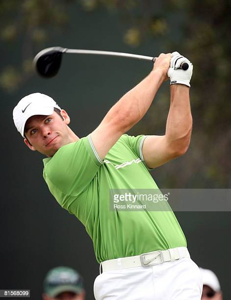 Paul Casey of England hits his tee shot on the seventh hole during the third round of the 108th US Open at the Torrey Pines Golf Course on June 14...