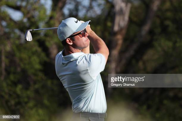 Paul Casey of England plays his shot from the 17th tee during the first round of the World Golf ChampionshipsDell Match Play at Austin Country Club...