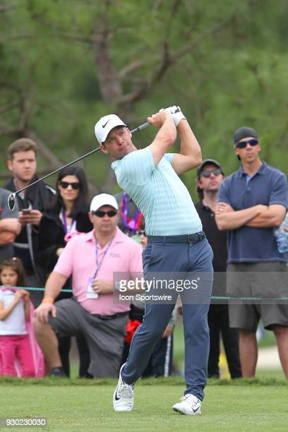 Paul Casey tees off at the sixth hole during the third round of the Valspar Championship on March 10 at Westin Innisbrook-Copperhead Course in Palm...