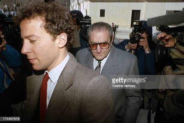 Paul Castellano boss of the Gambino Crime Family is photographed arriving for the 'Commission Trial' February 27 1985 at the US Federal Courthouse in...