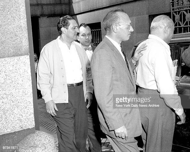 Paul Castellano US Agent and Michael Mirando after Apalachin trial at Federal Court return to Civil Jail at 37th Street