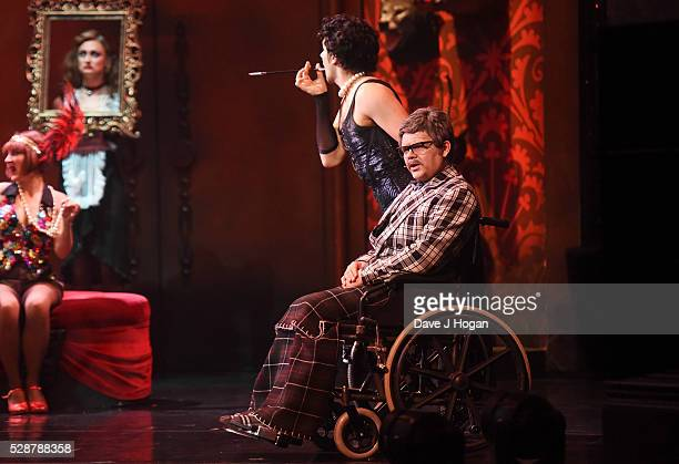 Paul Cattermole and Liam Tamne perform as a cast member of 'The Rocky Horror Show' tour at Richmond Theatre on May 6 2016 in Richmond England