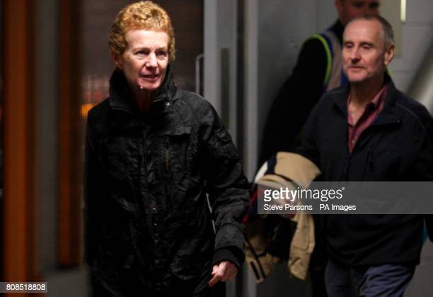 Paul Chandler 57 and his wife Rachel Chandler 60 from Tunbridge Wells Kent arrive back in the UK at Heathrow Airport after being freed after being...