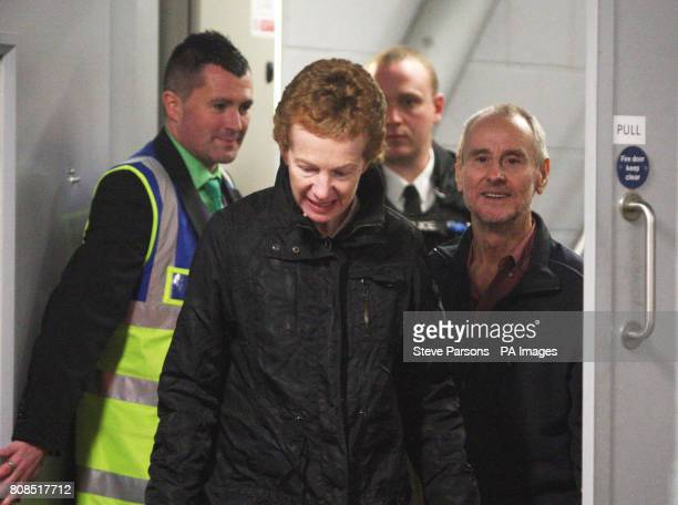 Paul Chandler and his wife Rachel Chandler 60 from Tunbridge Wells Kent arrive back in the UK at Heathrow Airport after being freed after being held...
