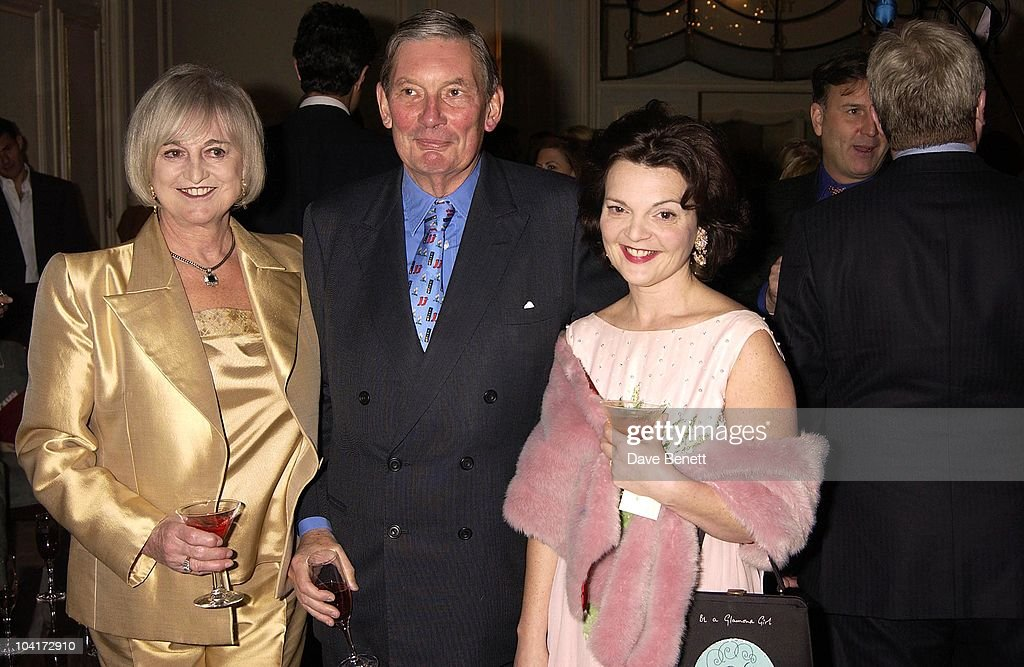 Paul Channon And His Wife With Lulu Guinness, Bag Designer Lulu Guinness Launched Her New Shoe Shop With A Party At Clarridges Hotel, London