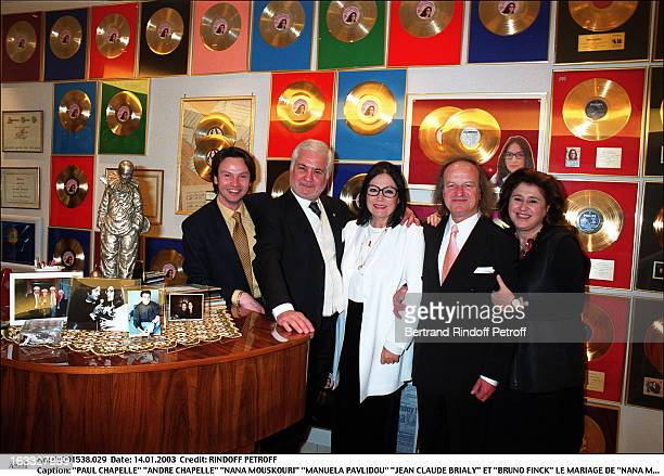Paul Chapelle Andre Chapelle Nana Mouskouri Manuela Pavlidou Jean Claude Brialy and Bruno Finck the wedding of Nana Mouskouri in Geneva piano golden...