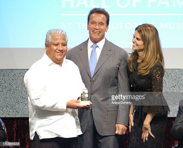 Paul Chavez Son of Cesar Chavez Recipient of the FirstEver California Hall of Fame Governor Arnold Schwarzenegger and First Lady Maria Shriver