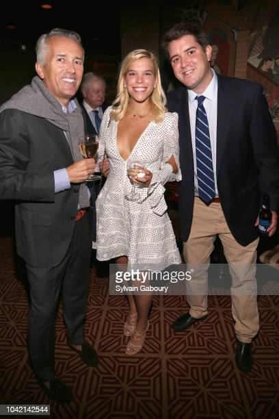 Paul Chevalier Allie Fuller and Nick Converse attend David Patrick Columbia And Chris Meigher Toast The QUEST 400 At DOUBLES on September 27 2018 in...