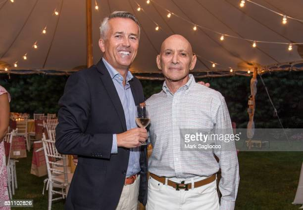 Paul Chevalier and Host Michael Braverman attend Hamptons Magazine's Private Dinner Celebrating East Hampton Library Authors Nighton August 12 2017...