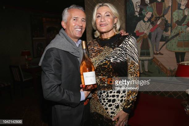 Paul Chevalier and Susan Magrino Dunning attend David Patrick Columbia And Chris Meigher Toast The QUEST 400 At DOUBLES on September 27 2018 in New...