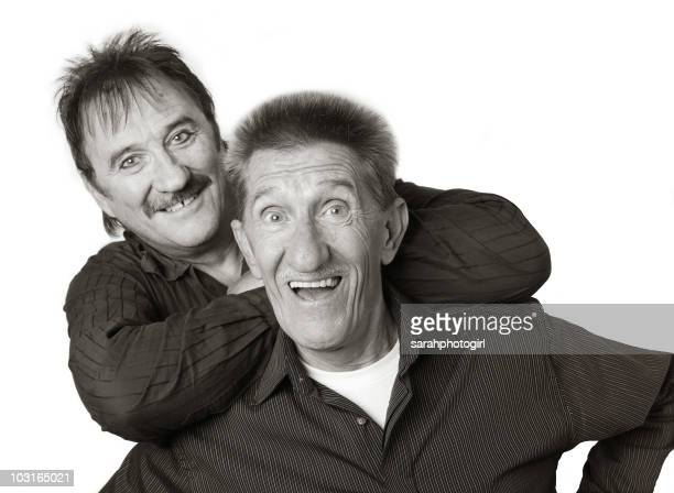 Paul Chuckle and Barry Chuckle of The Chuckle Brothers pose during a photo shoot on November 12 2009 in Scarborough England