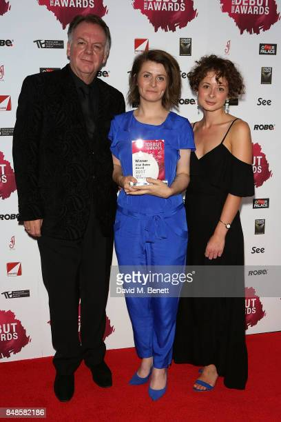 Paul Clayton Georgia Frost and Faye Castello attends the Stage Debut Awards at 8 Northumberland Avenue on September 17 2017 in London England