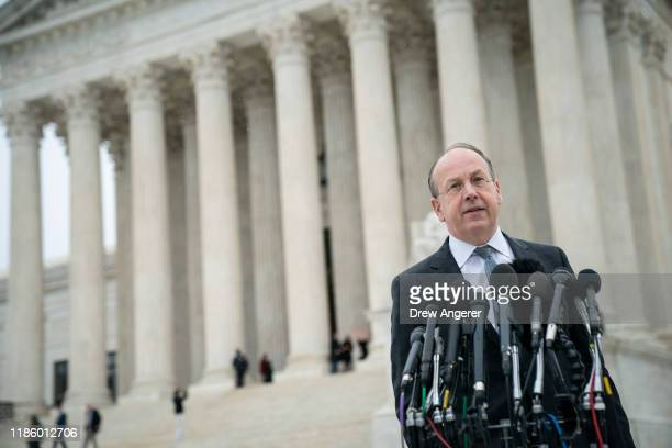 Paul Clement, former U.S. Solicitor General and attorney representing the New York State Rifle & Pistol Association and other petitioners, speaks to...
