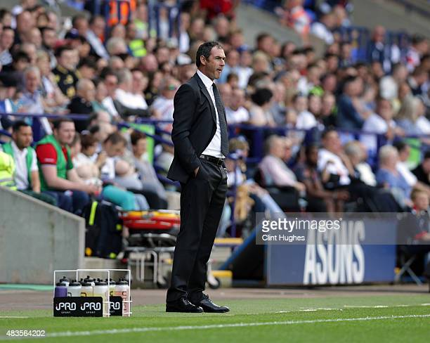 Paul Clement manager of Derby County during the Sky Bet Championship match between Bolton Wanderers and Derby County at the Macron Stadium on August...