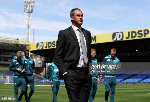 Paul Clement Manager of Swansea City takes a look around the stadium prior to the Premier League match between Crystal Palace and Swansea City at...