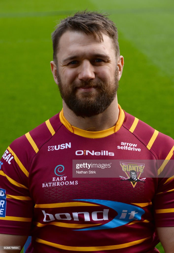 Paul Clough of Huddersfield Giants poses for a portrait during the Huddersfield Giants Media Day at John Smith's Stadium on January 22, 2018 in Huddersfield, England.