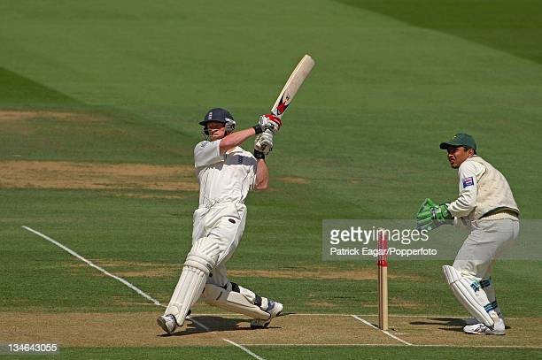 Paul Collingwood hits Shahid Afridi for 4 England v Pakistan 1st Test Lord's Jul 06