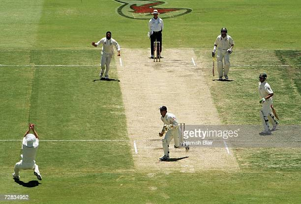 Paul Collingwood of England catches Matthew Hayden of Australia off the bowling of Monty Panesar during day three of the third Ashes Test Match...