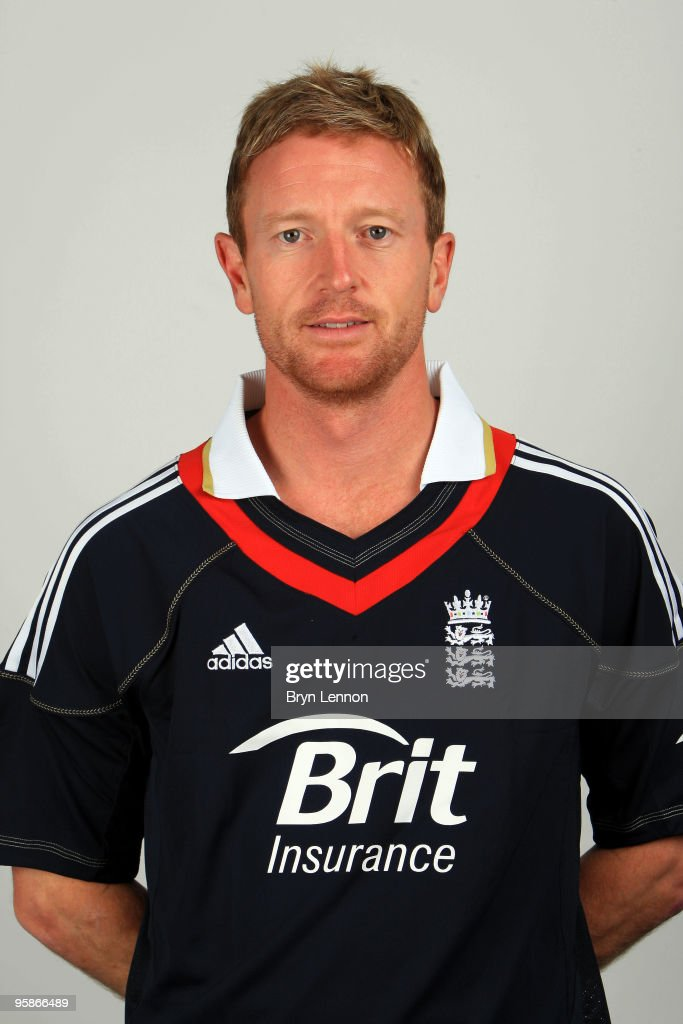 Paul Collingwood of England poses for the team portraits at the ECB Centre at University on October 28, 2009 in Loughbrough,England.