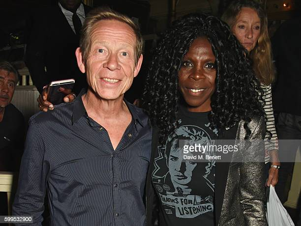 Paul Cook and Jeni Cook attend the launch of Issues a new album by SSHH in aid of Teenage Cancer Trust at The Box on September 5 2016 in London...