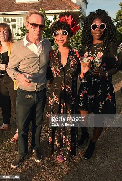 Paul Cook Hollie Cook and Jeni Cook attend Krug Island a food and music experience hosted by Krug champagne on September 1 2016 in Maldon England