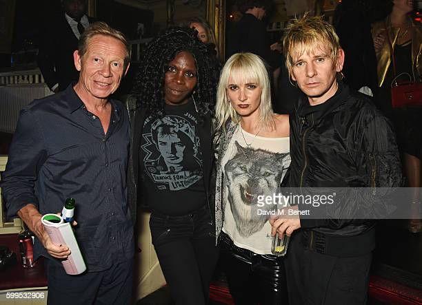 Paul Cook Jeni Cook Sshh Liguz and Zak Starkey attend the launch of Issues a new album by SSHH in aid of Teenage Cancer Trust at The Box on September...